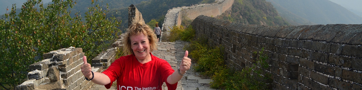 ICR trekker on the Great Wall of China